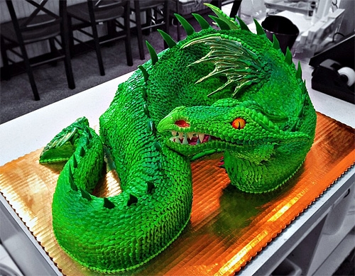 1-green-dragon-unusual-cake-design-cool