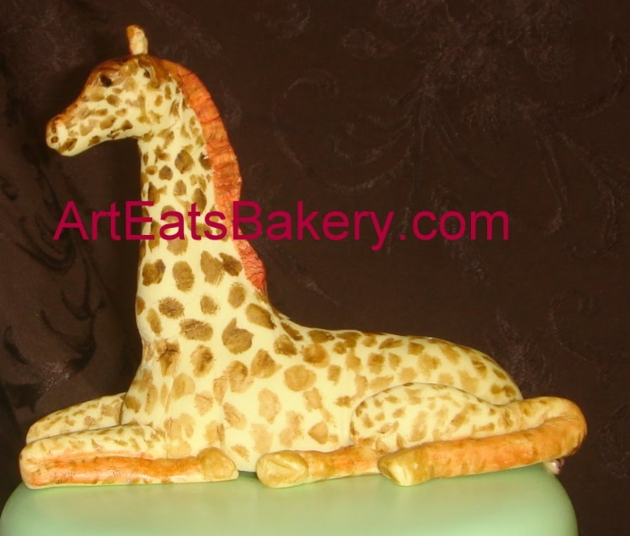 hand-made-custom-designed-sugar-sculpture-giraffe-figure-cake-topper